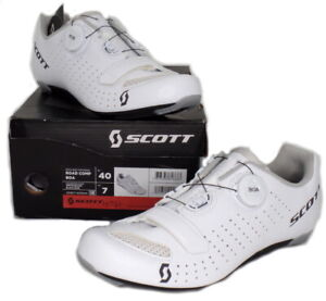 Scott Road Comp Boa Bike Cycling Shoes White Men's Size 40 US / 7 EU