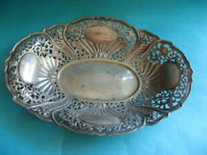 ANTIQUE CONTINENTAL COIN SILVER 800 DISH TRAY MARKED 800
