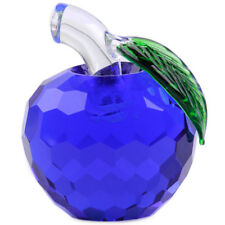 3D Blue Glass Crystal Apple 40mm Vintage Collection Wedding Valentine's Day Gift