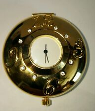 "Estee Lauder ""PERFECT TIMING"" Crystal Compact Pocket Watch - NEW!"