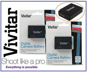 2 Pcs Hi Capacity Vivitar LPE10 Li-Ion Battery for Canon LP-E10