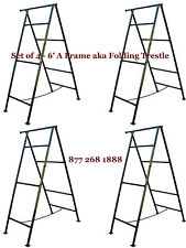 Set of 4- 6' A Frame aka Folding Trestle for Masonry Contractor work Cbmscaffold