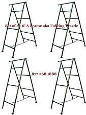Set of 4- 6' A Frame aka Folding Trestle for Masonry Contractor work CBMscaffold