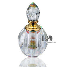 Fashion Crystal Empty Round Perfume Bottle Stopper Refillable Elegant Gifts 3ml