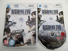RESIDENT EVIL THE DARKSIDE CHRONICLES - NINTENDO WII - Jeu WII PAL FR Complet