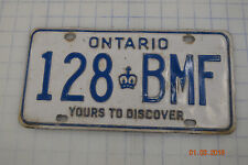 ONTARIO CANADA License Plate Auto Car Tag - YOURS TO DISCOVER - Man Cave Garage