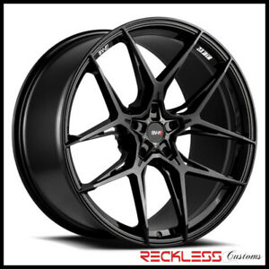 """SAVINI 20"""" SVF-05 GLOSS BLACK CONCAVE WHEEL RIMS FITS FORD MUSTANG GT GT500"""