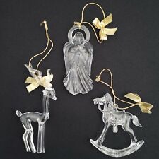 Set of 9 Ornaments Images of Christmas Avon 3 Rocking Horse 3 Angel 3 Reindeer