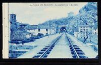 2779.-ALHAMA DE ARAGÓN -La Vía férrea y el Castillo