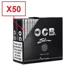 LOT Boite 50 Paquets Carnets Feuilles OCB SLIM PREMIUM Noire / Normes FR / NEUF
