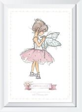 Personalised baby child fairy name print picture gift nursery christening art