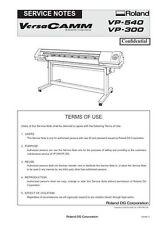 Roland vp-540 vp-300 service manual, Wide format printer  VersaWork maintenance