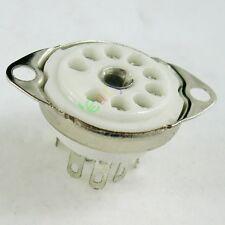 8pc 9pin Ceramic vacuum tube socket for 12AX7 12AU7 ECC83 ECC82 6DJ8 audio amps