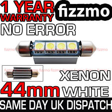 44mm 4 Smd Led C5w Canbus No Error Blanco Interior Luz Disipador De Calor Festoon bombilla