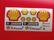 14 Adesivi SHELL Advance vari formati sponsor moto auto