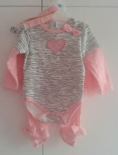 Kathy Ireland Baby Girl's 4 Piece 100% Cotton Set (6-9 Months) MSRP;$40.00