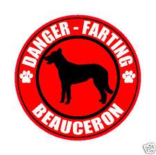 "Farting Beauceron Fart 5"" Dog Sticker"