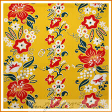 BonEful Fabric FQ Cotton Quilt Yellow Red White Flower Stripe Xmas Dot Retro VTG