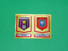N°373 A-B BADGES ISTRES C.O. LE PUY D2 PANINI FOOTBALL 88 1987-1988