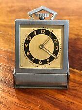 Vtg 1937 Mini Folding Wind up Rectangular Pocket Watch (usa)