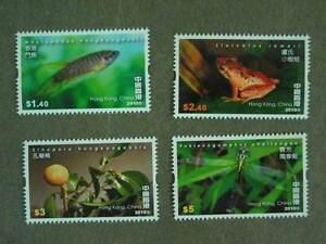 China Hong Kong 2010 Biodiversity stamps Fish Insect