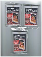 ULTRA PRO ONE-TOUCH 100PT UV PROTECTED CARD HOLDER LOT OF 3