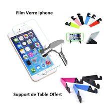 Iphone 7, Accessoire Film Ecran Anti choc Verre Trempé Support table offert