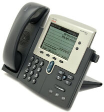"""Lot of 5 Cisco 7942 CP-7942G Unified IP VoIP Gigabit Phones 5"""" Display"""