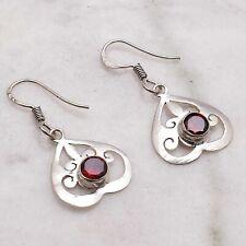 "Jewelry 1.32"" Ae 50552 Garnet Handmade Drop Dangle Earrings"