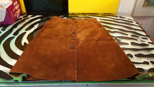Jaeger Suede Skirt Womens size 12 Good Condition Brown
