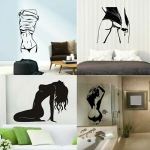 Sexy Girl Silhouette Wall Decal Removable Vinyl Stcker Art Hot Woman Home Decor