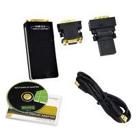USB DVI To VGA HDMI Multiple Monitor External Graphics Card Multi Display Adapte