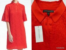 NWT BANANA REPUBLIC Size XS Petite Floral Lace 3/4 Bell Sleeve Shift Polo Dress