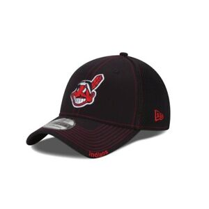 Cleveland Indians New Era Neo Navy / Red 39THIRTY Flex Hat - New With Tags