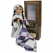 Little House 18 In Laura Ingalls Doll with Nightgown, Rag Doll, Pillow & Quilt