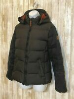 Timberland Down Puffer Jacket Black Hooded Lined Insulated Women's Size M