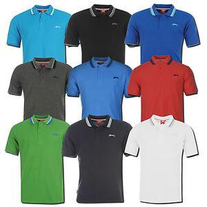 SLAZENGER Polo Shirt TIPP Polohemd Poloshirt Hemd Golf S-4XL Herren Freizeit Neu