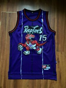 NBA TORONTO RAPTORS BASKETBALL SHIRT NIKE #15 CARTER SIZE S