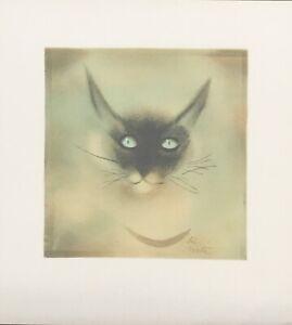Moti Siamese Cat original lithograph signed in the stone