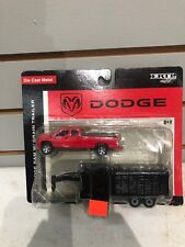 1/64 Dodge Ram Truck With Grain Trailer By Ertl