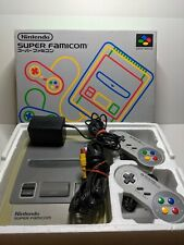 Nintendo Super Famicom in Box with Two Controllers, Cords & Power Adapter.