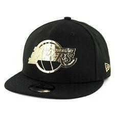 "New Era 950 Los Angeles Lakers ""Metal Framed"" Snapback Hat (Black) Men's NBA Cap"