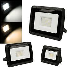 """10-300W extra flacher LED Fluter """"Super-Slim"""" 230V Garten Außen-Strahler flach"""
