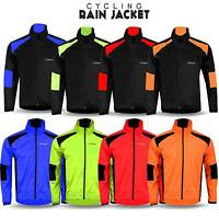 Mens Cycling Waterproof Rain Jacket High Visibility Running Top Coat M to 2XL