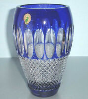 "Waterford COLLEEN Cobalt Blue Crystal Vase 8"" 60th Anniversary New"