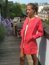 Handmade Pink/red Indian Quilted Jacket 100% Cotton Statement Coat Small 8/10