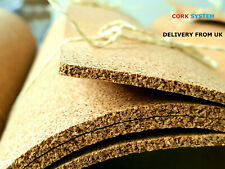 More details for cork sheet rolls 6 mm thick 1000mm x 300mm landscape mats, pinboard high quality