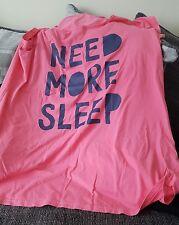 ladies nightshirt george size 24 - 26 plus size pyjama top need more sleep