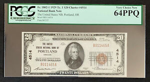 NQC Fr. 1802-1 $20 1929 Type 1 National Bank Note