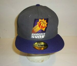 PHOENIX SUNS NBA HARDWOOD CLASSICS NEW ERA FITTED 59FIFTY CAP GREY/PURPLE 7-1/2